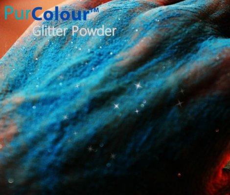 PurColour Glitter Powder Blue | Glitter Celebration Powder, color powder, holi,