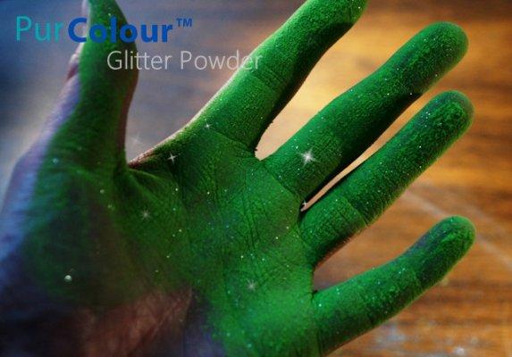 PurColour Glitter Powder Green | Glitter Celebration Powder, color powder, holi,