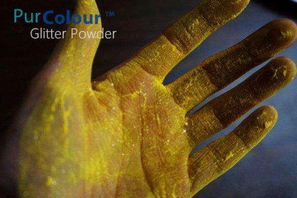 PurColour Glitter Powder Yellow | Glitter Celebration Powder, color powder, holi,