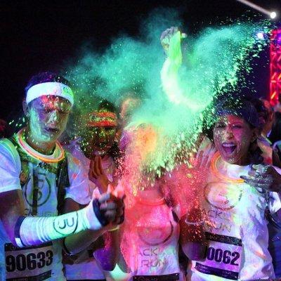 Black Light Run Denver 2015 | PurColour AfterDark Powder | Glow Powder, Holi Powder