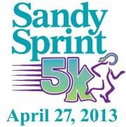 Sandy Sprint 5k |Benefit Ovarian Cancer PurColour customer color powder, celebration powder.