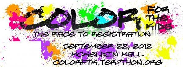 Terp Thon 2012 | University Maryland FTK Color Run PurColour customer color powder, celebration powder, holi. benefit Children's Miracle Network