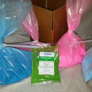 PurColour gneder reveal kit blue, pink and test bag of color