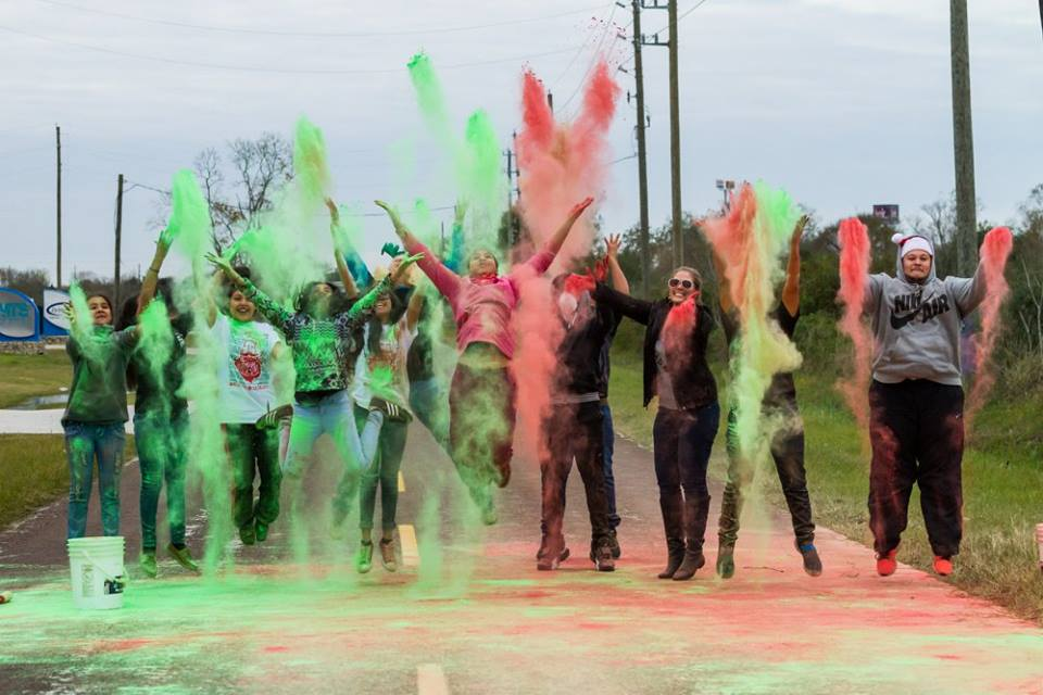 A Holiday themed color 5k with PurColour powder