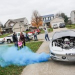 PurColour Gender Reveal using a car