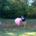 Gender Reveal with PurColour Neon Pink Powder