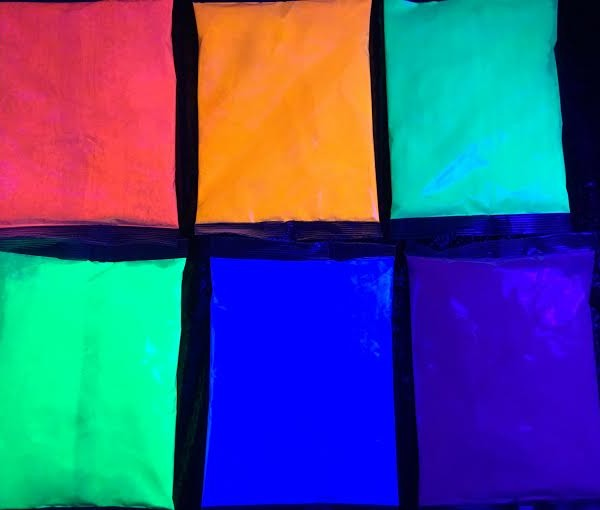 PurColour Color Powder AfterDark Bags under UV Lighting