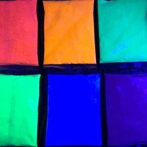 PurColour Color Powder AfterDark Bags under UV Lighting