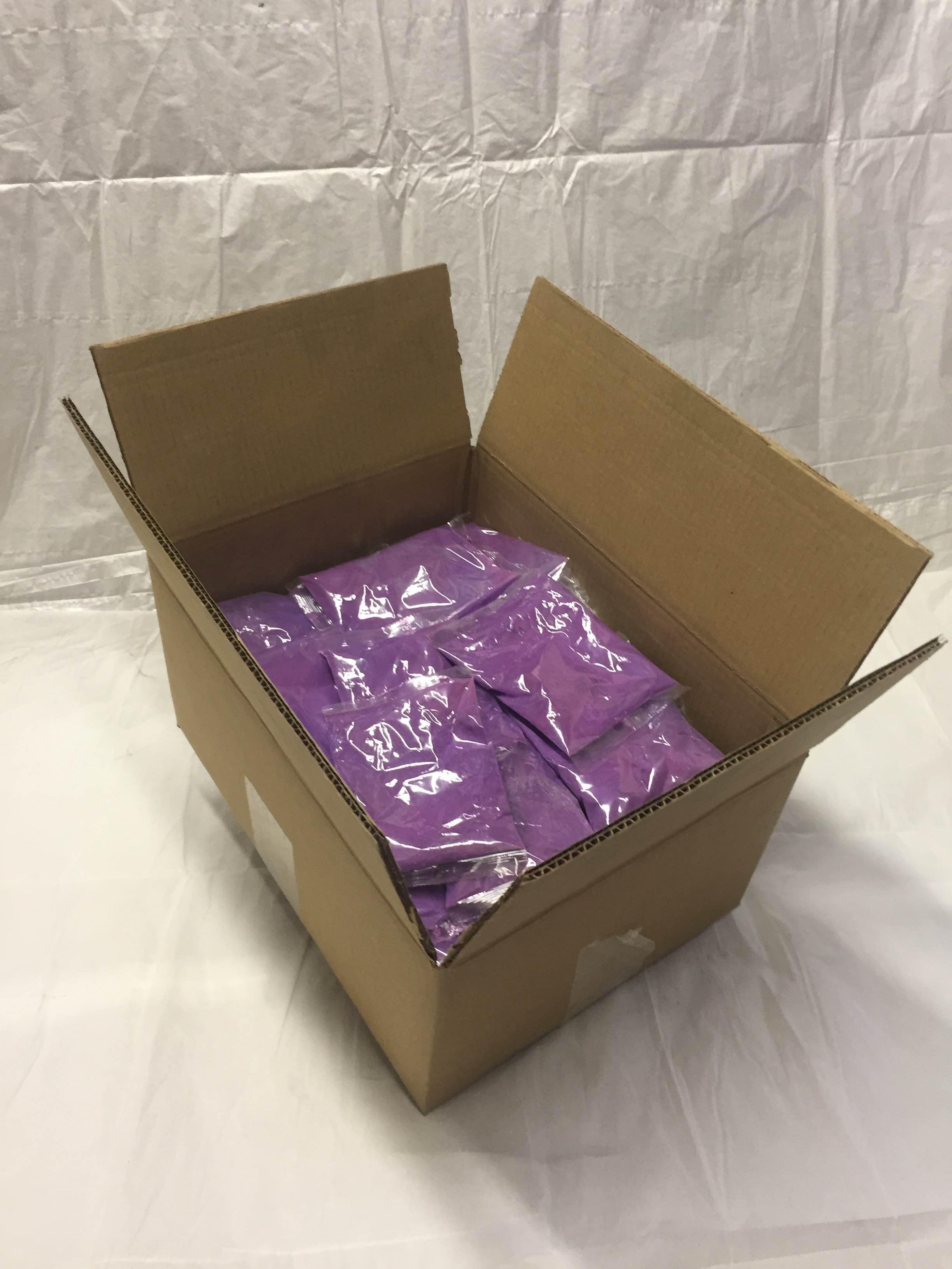 PurColour Color Powder Standard Purple Bags - 100 Bags/Box
